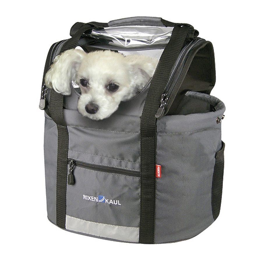 KlickFix Gepäckträgertasche »Doggy Lenkerkorb grau«