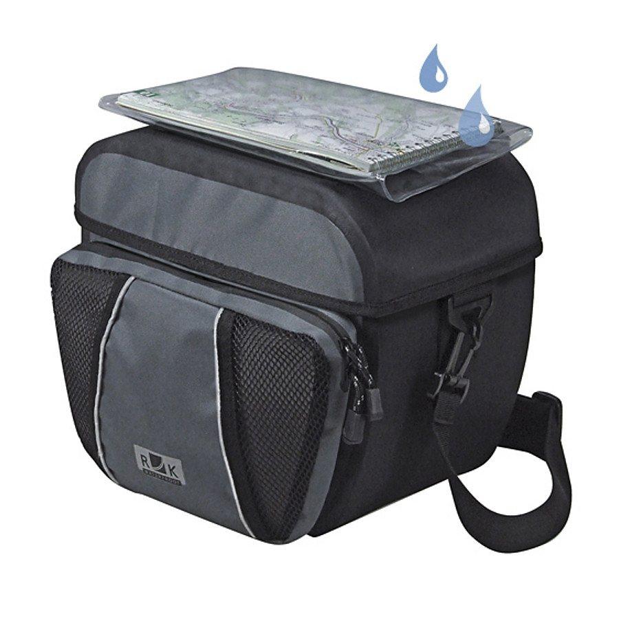KlickFix Gepäckträgertasche »Ultima Lenkertasche schwarz grau«