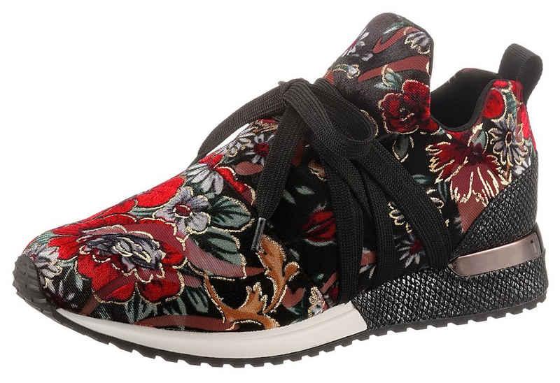 La Strada Slip-On Sneaker mit opulentem Blütenprint