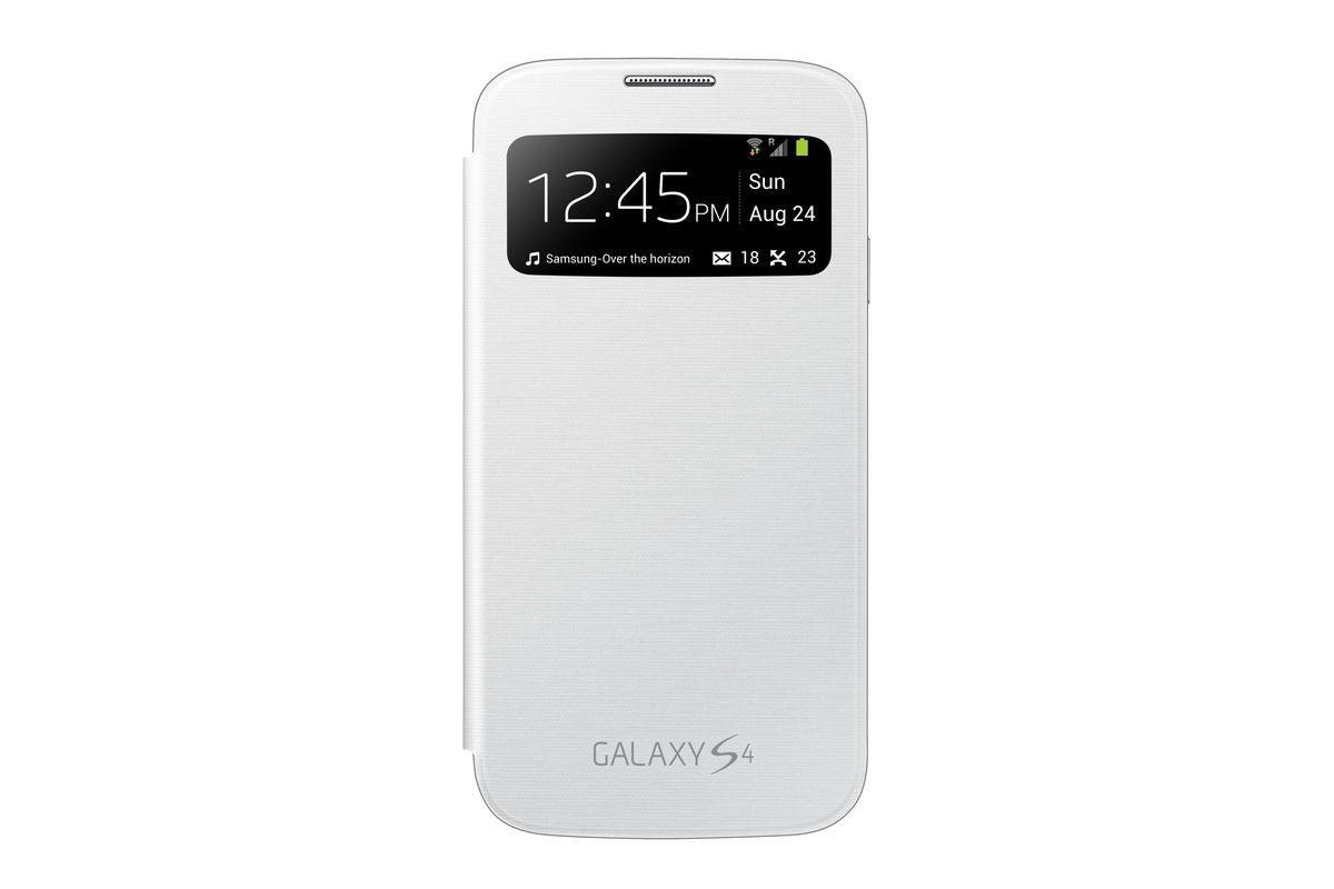 Samsung Handytasche »S-View Cover EF-CI950B für Galaxy S4, Weiß«