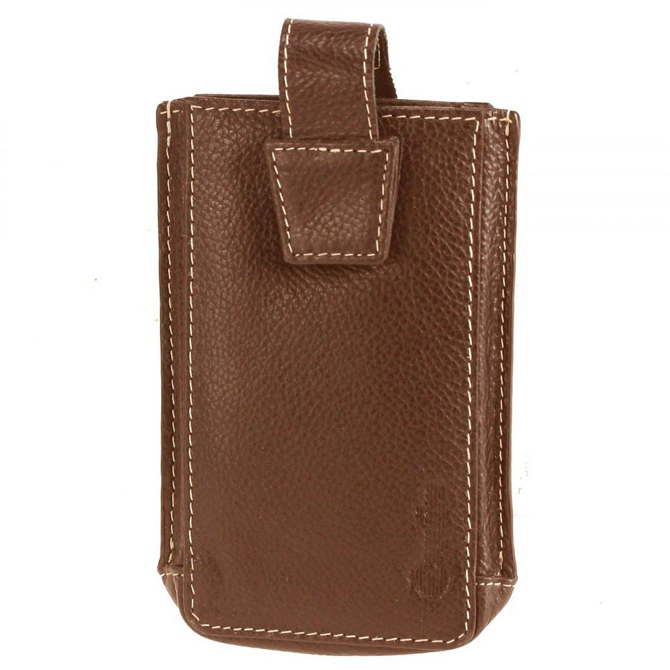 Esquire iPhone Hülle Leder 7,5 cm in brown