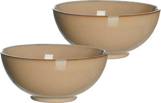 Ritzenhoff & Breker Schale »Puebla«, Steinzeug, (Set, 2-tlg), Buddha-Bowls, Ø 17,5 cm