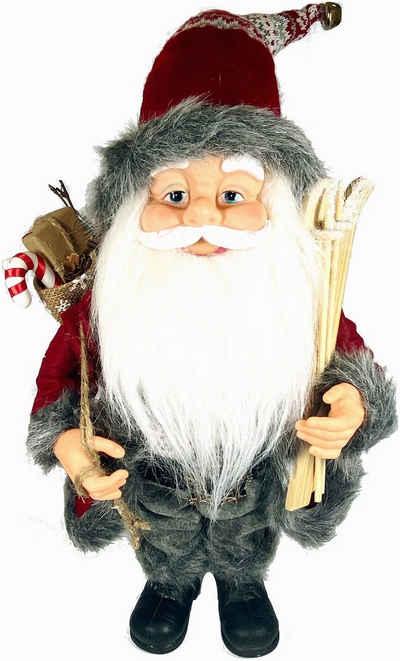 Weihnachtsmann (1 Stück), mit Skieren und Geschenken, Höhe ca. 50 cm