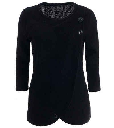 FRANK WALDER Strickpullover »FRANK WALDER 7/8-Arm-Pullover zeitloser Damen Strick-Pulli Mode-Pullover Schwarz«