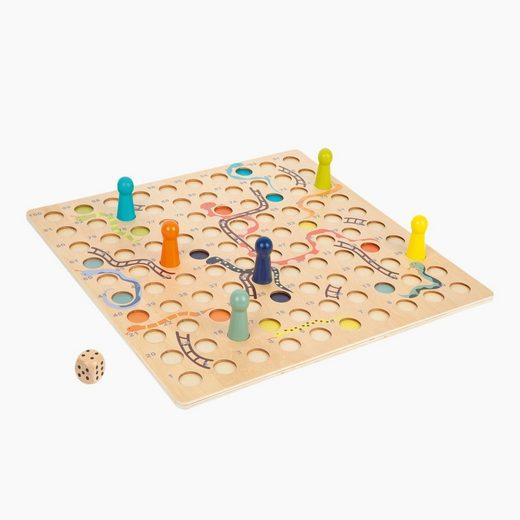 Small Foot Spiel, Logikspiel »Schlangen und Leitern-Spiel XXL«, Das Spiel ist perfekt geeignet für Spieler mit kleinen Händen oder unsicherer Handführung.