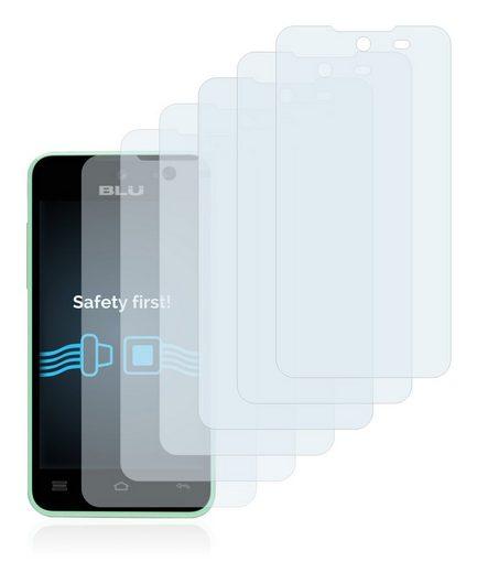 Savvies Schutzfolie »für BLU Advance 4.0 L«, (6 Stück), Folie Schutzfolie klar