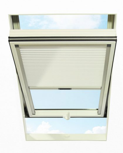Dachfensterplissee, RORO Türen & Fenster, blickdicht, in Führungsschienen, BxH: 74x118 cm