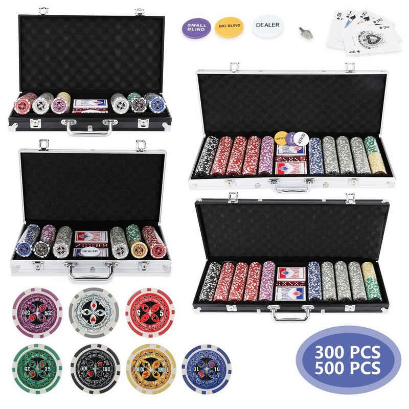 Einfeben Spiel, »Pokerchips Leerkoffer Pokerset Pokerkoffer Abschließbar Keramik 300/500 Chips«