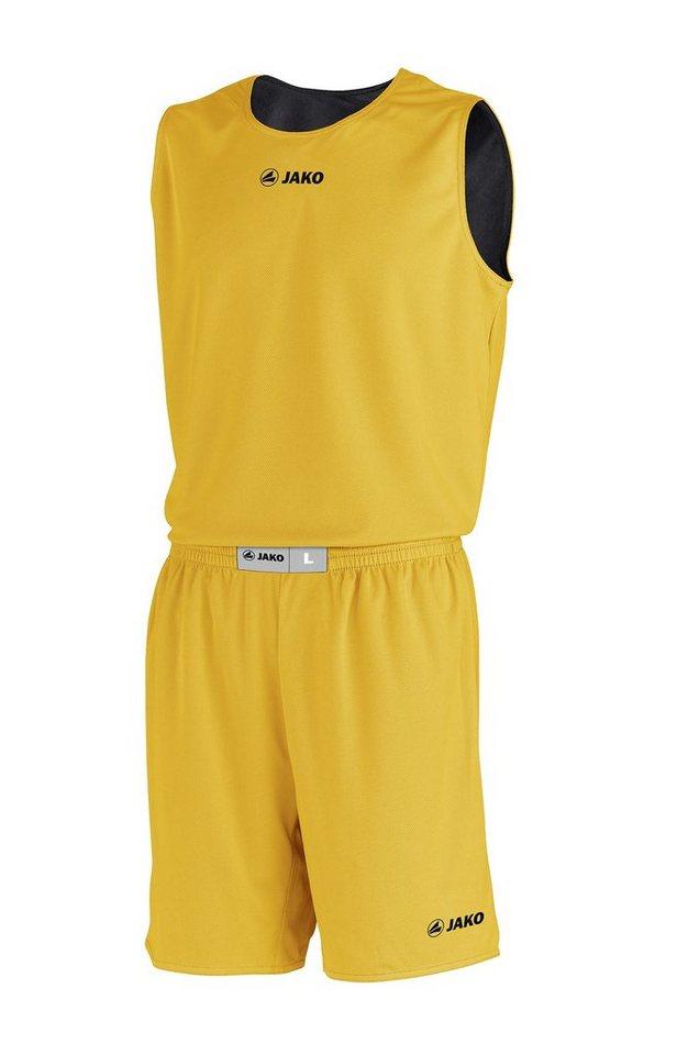 JAKO Basketball Wendetrikot Change Kinder in gelb/schwarz