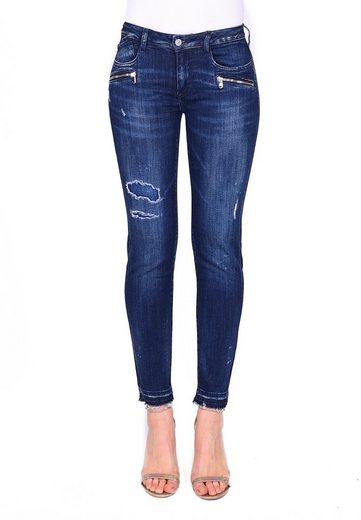 Le Temps Des Cerises Straight-Jeans »POWERC« in tollem Design