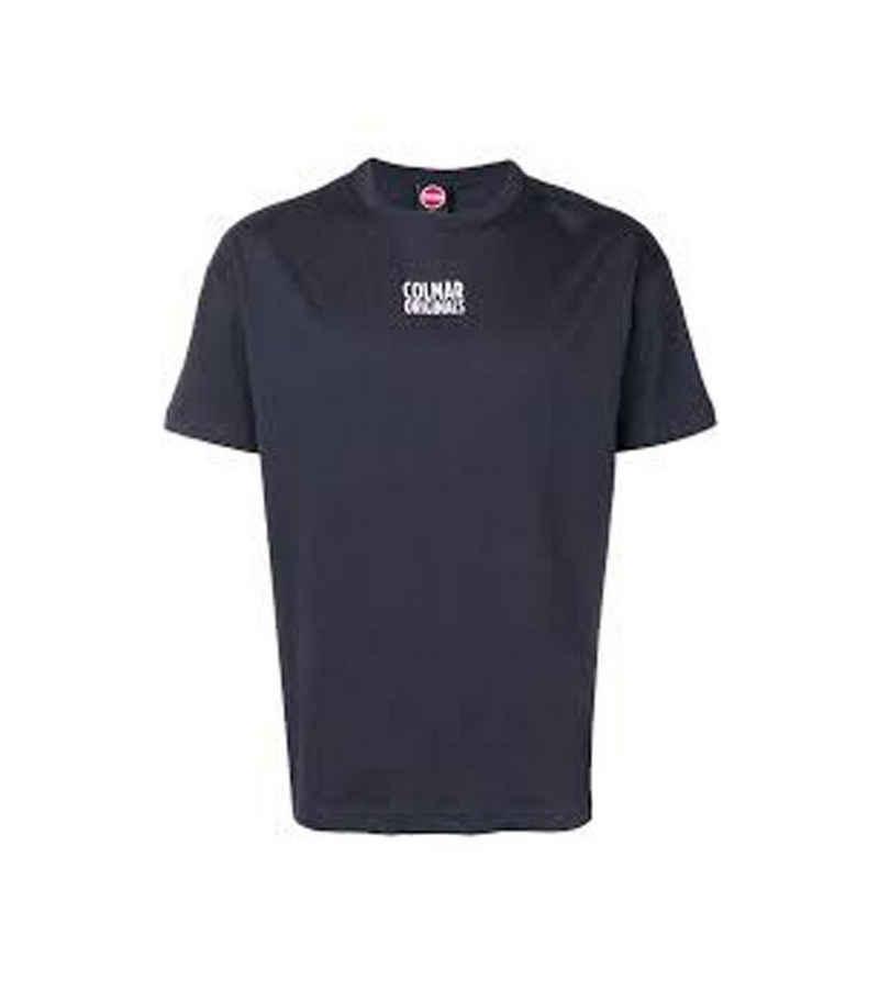 Colmar T-Shirt »COLMAR Originals Frida Sommer-Shirt cooles Herren T-Shirt mit Marken-Banderole auf Rücken Kurzarm-Shirt Blau«