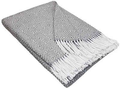 Wohndecke »Wohndecke Baumwolldecke sehr weiches Plaid Kuscheldecke 140 x 200 cm in versch. Farben Marbella-V«, STTS