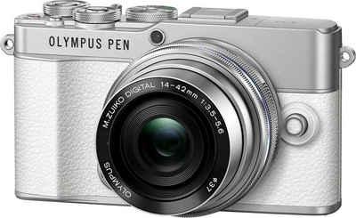 Olympus »E-P7 Pancake Zoom Kit« Systemkamera (M. Zuiko Digital ED 14-42mm F3.5-5.6 EZ Pancake, 20 MP, 3x opt. Zoom, Bluetooth, WLAN (WiFi)