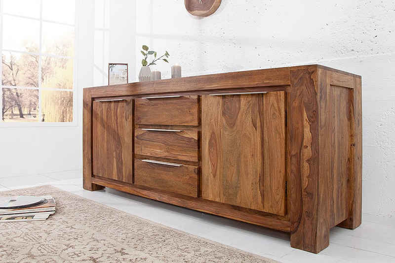 riess-ambiente Sideboard »MAKASSAR 175cm natur«, Massivholz · Anrichte · mit 3 Schubladen · Kommode · Wohnzimmer