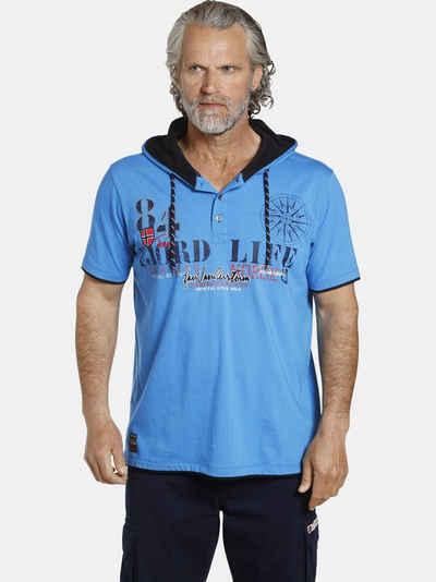 Jan Vanderstorm Kapuzenshirt »KELD« sportliches T-Shirt mit Kapuze