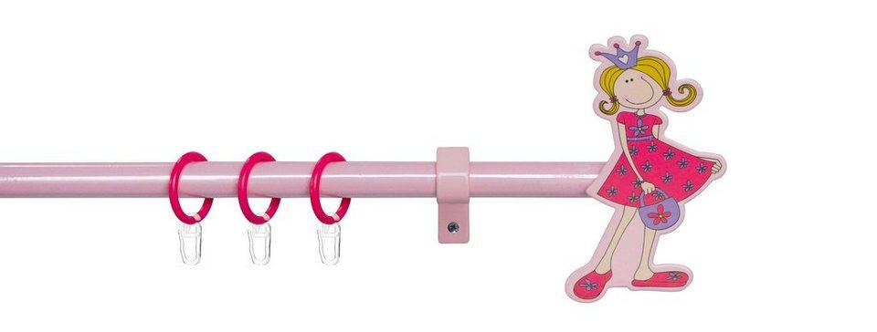 Gardinenstange, »Prinzessin Leonie«, Good Life, 1-läufig, ø 13-16 mm ausziehbar in pink-rosé