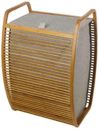 Möve Wäschekorb (1 Stück), mit innovativen Bambusrahmen