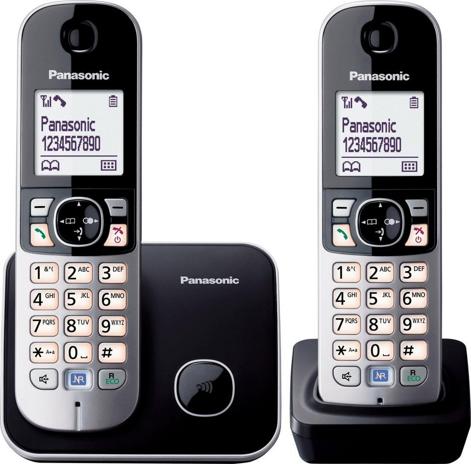 panasonic kx tg6812gb duo schnurloses dect telefon set online kaufen otto. Black Bedroom Furniture Sets. Home Design Ideas