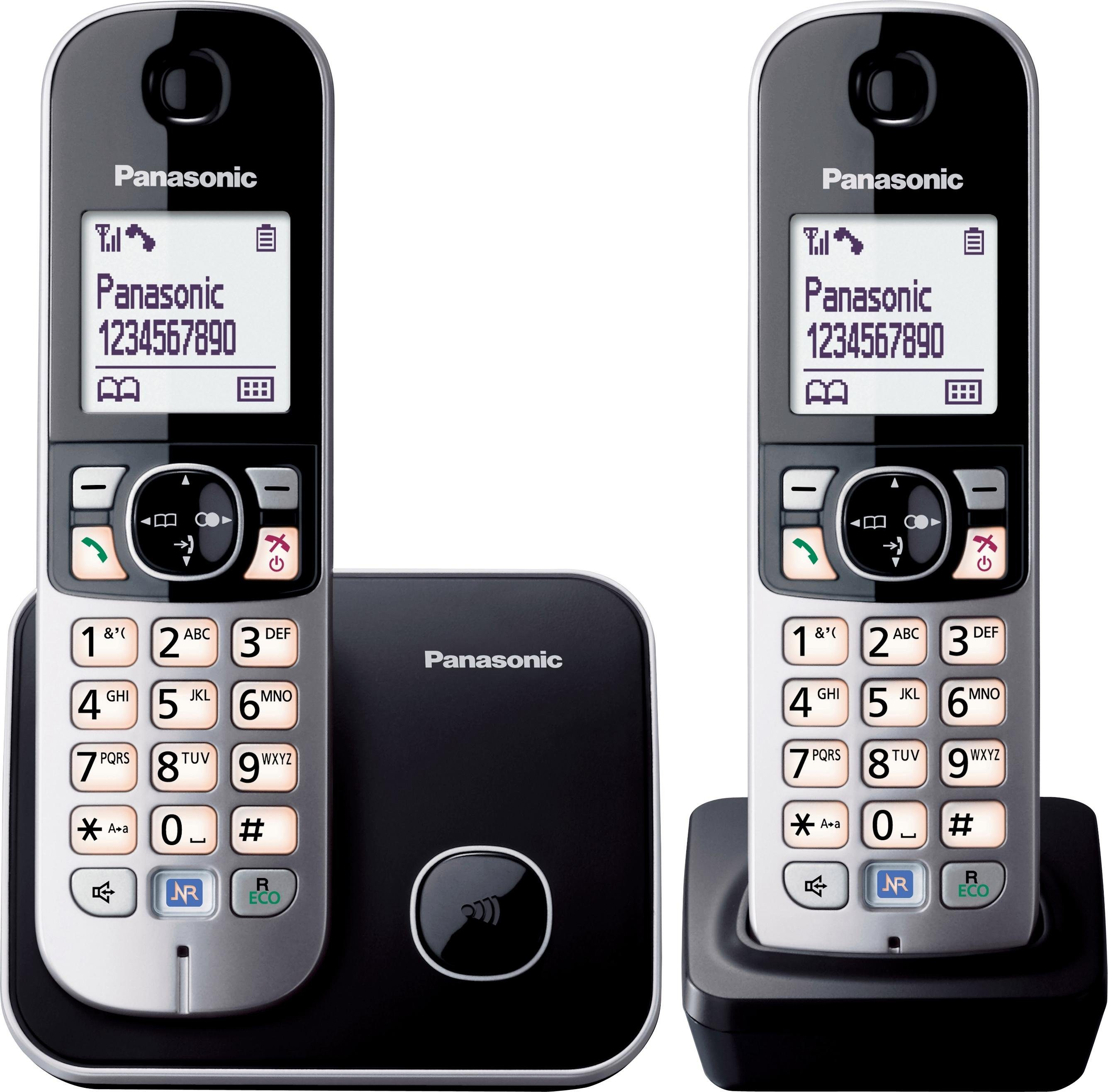 Panasonic »KX-TG6812GB DUO« Schnurloses DECT-Telefon (Mobilteile: 2)