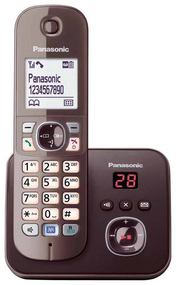 Panasonic KX-TG6821G Schnurloses DECT Telefon mit AB in mocca
