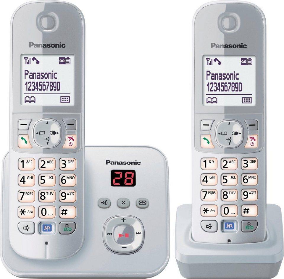 panasonic kx tg6822g duo schnurloses dect telefon set mit ab online kaufen otto. Black Bedroom Furniture Sets. Home Design Ideas