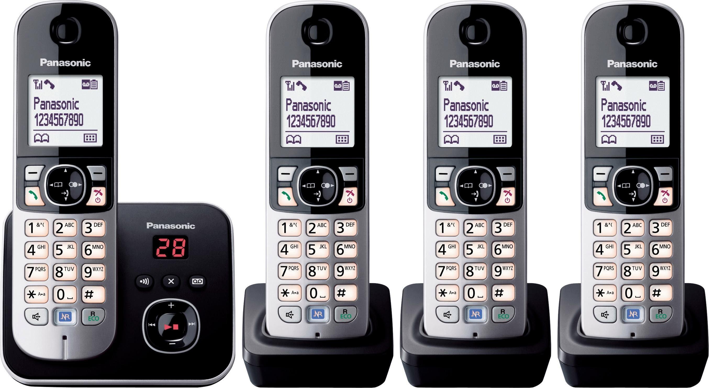 Panasonic KX-TG6824GB QUATRO Schnurloses DECT Telefon-Set mit AB
