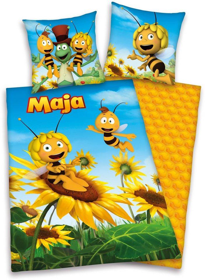 Bettwäsche, Biene Maja, »3D« in gelb