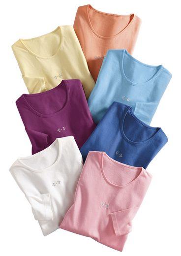 Classic Basics Shirt mit Seitenschlitze