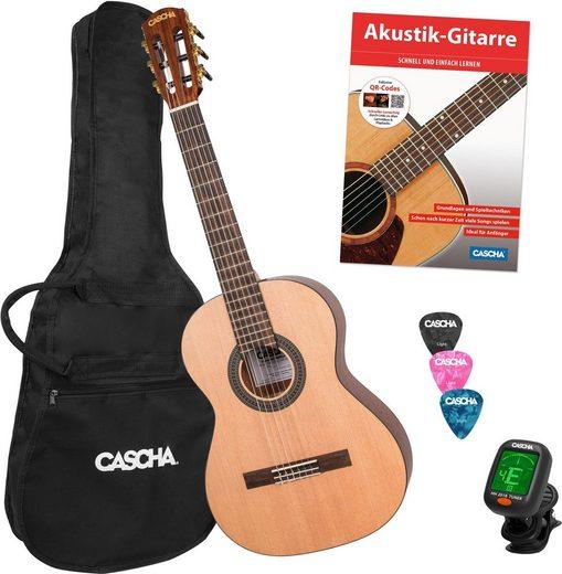 Cascha Konzertgitarre »Stage Series« 3/4, inkl. Gitarrenschule und Stimmgerät