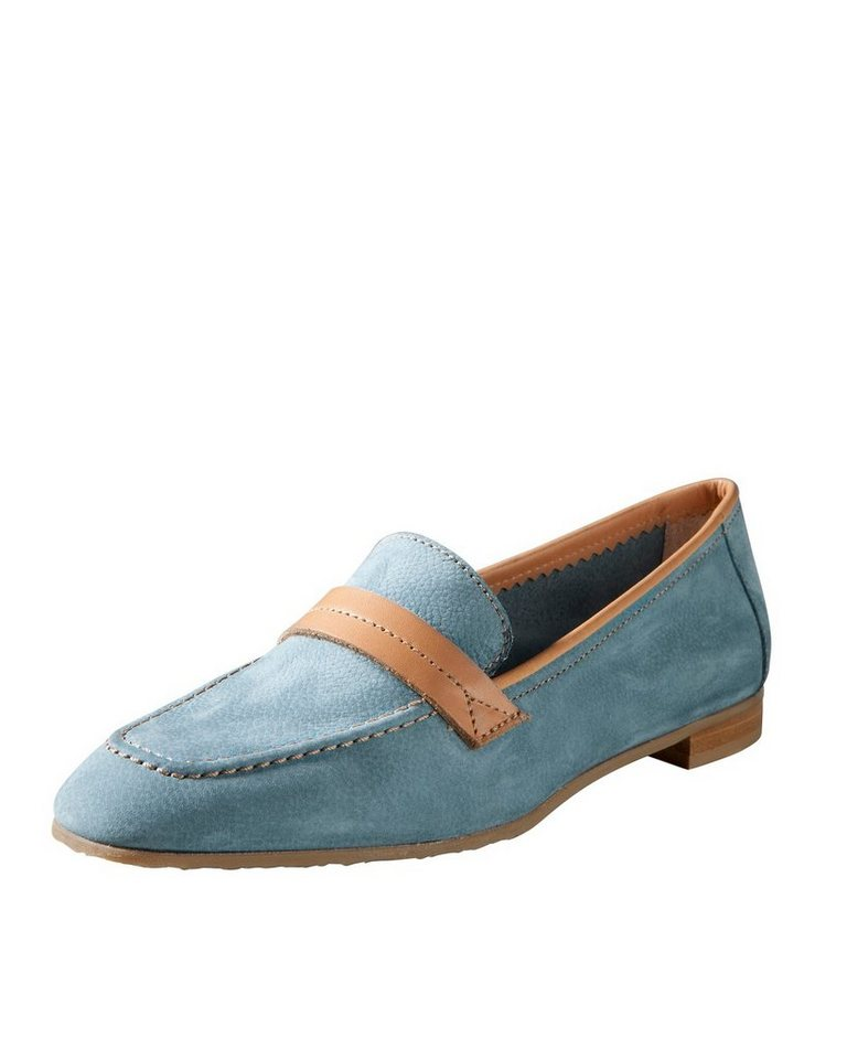 Highmoor Lederslipper in Jeansblau