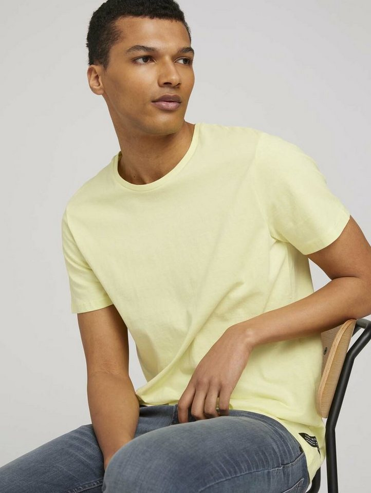 tom tailor denim -  T-Shirt »Basic T-Shirt mit Bio-Baumwolle«