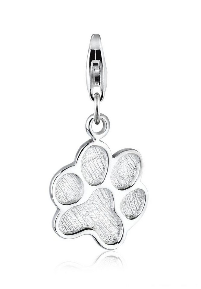 Elli Charm »Katzenpfote Tier 925 Silber« in Silber