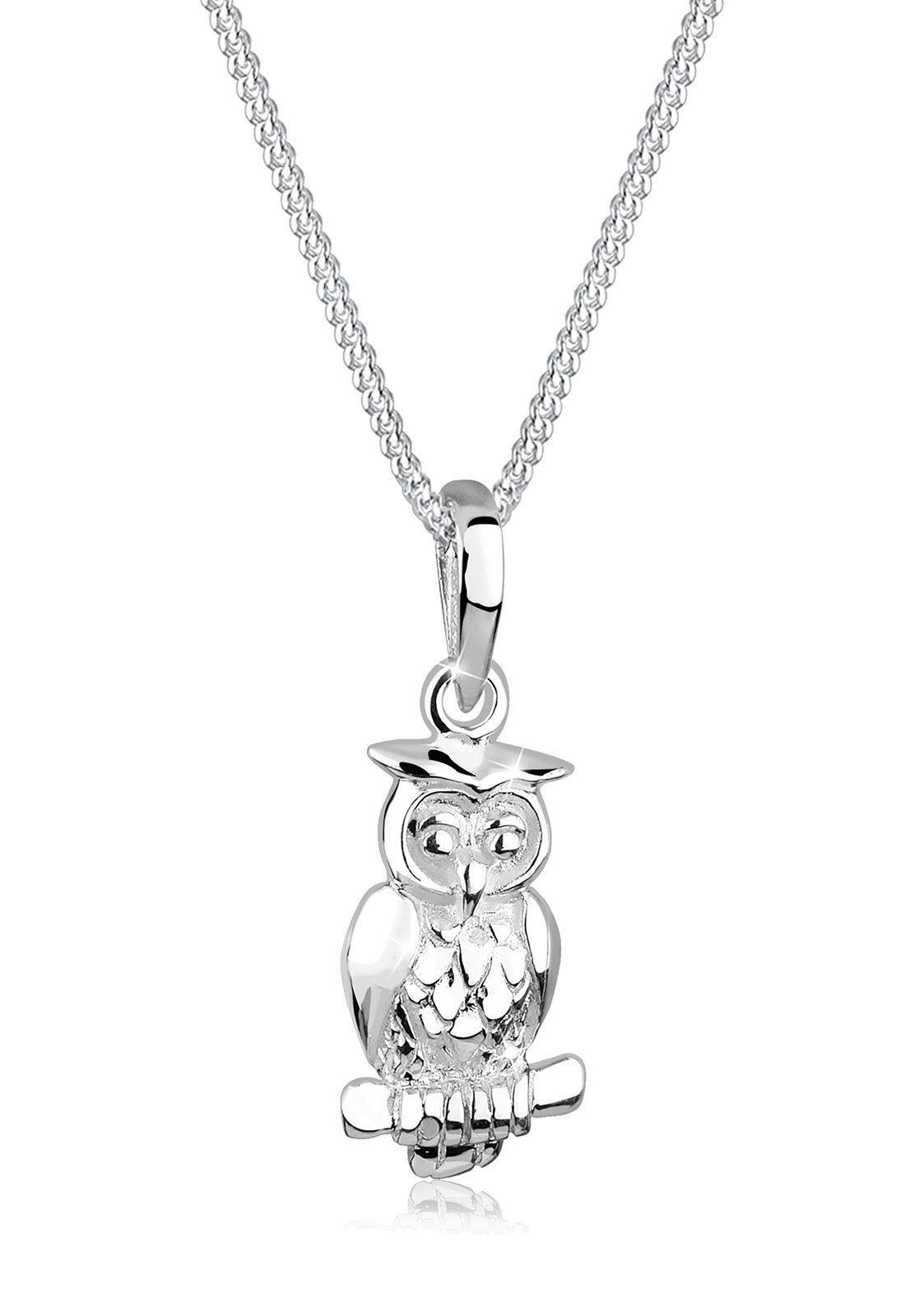Elli Halskette »Eule Tier Motiv 925 Silber«