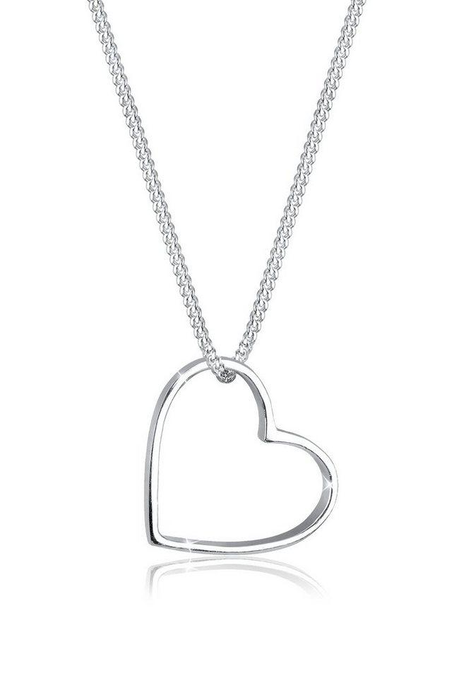 Herzanhänger  Elli Halskette »Herz Anhänger Liebe Cut Out 925 Silber« online ...