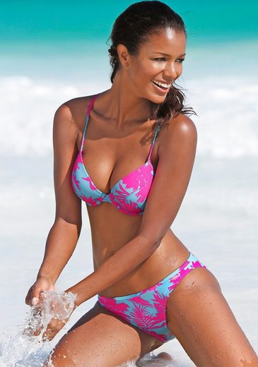 Venice Beach Push-up-Bikini mit tollem Tropical-Print
