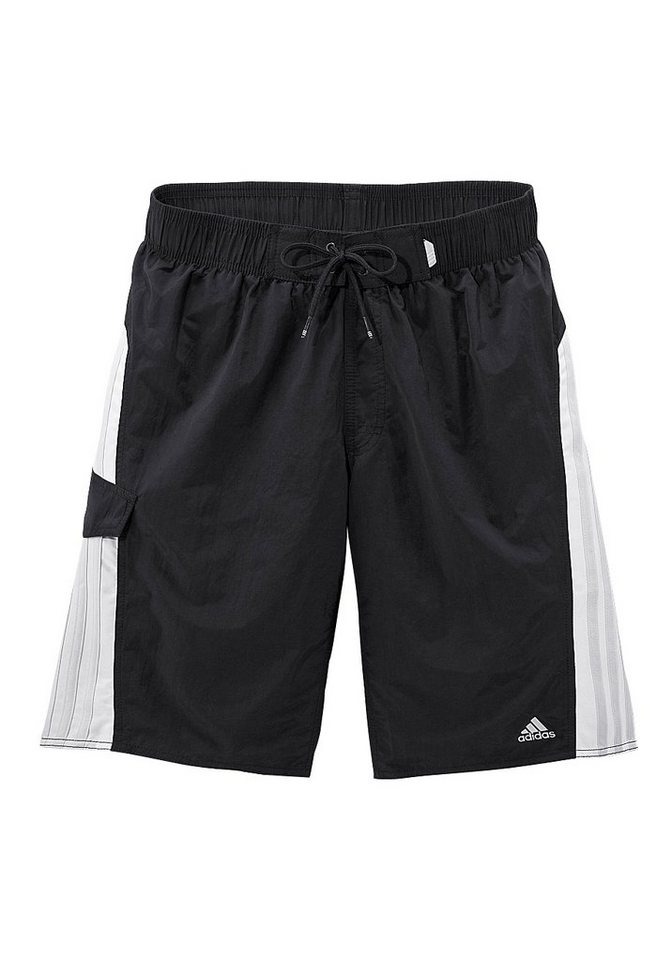 adidas Performance Badeshorts in schwarz