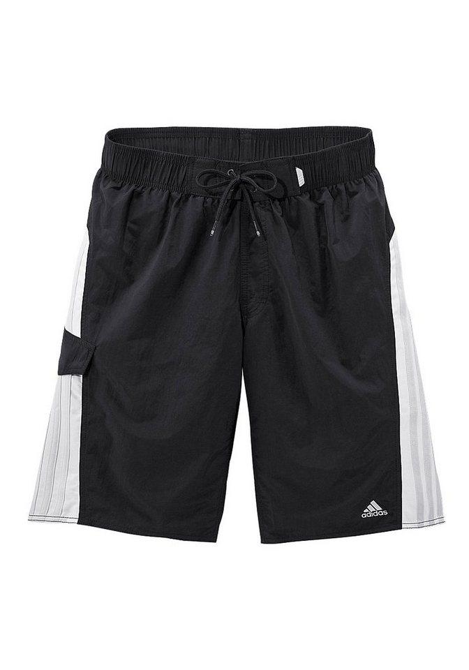 Badeshorts, adidas Performance in schwarz