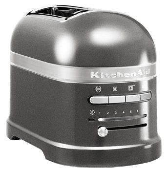 KitchenAid Toaster Artisan 5KMT2204EMS, 2 kurze Schlitze, für 2 Scheiben, 1250 W