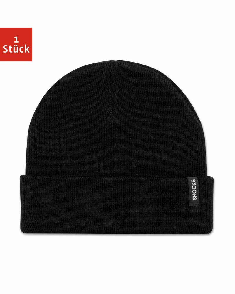 SNOCKS Beanie »Beanie für Herren & Damen Wintermütze« (1-St) aus weichem Material