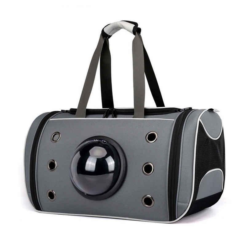 RAIKOU Tiertransporttasche »Haustier Raumkapsel-Tasche Reisetasche Rucksack Tragetasche für Hund Katze Haustier« bis 20,00 kg, atmungsaktive, klare Sicht
