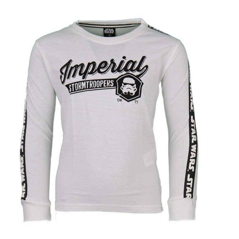 Star Wars Langarmshirt »Imperial Storm Trooper Kinder Shirt« Gr. 134 bis 164, 100% Baumwolle, in Weiß