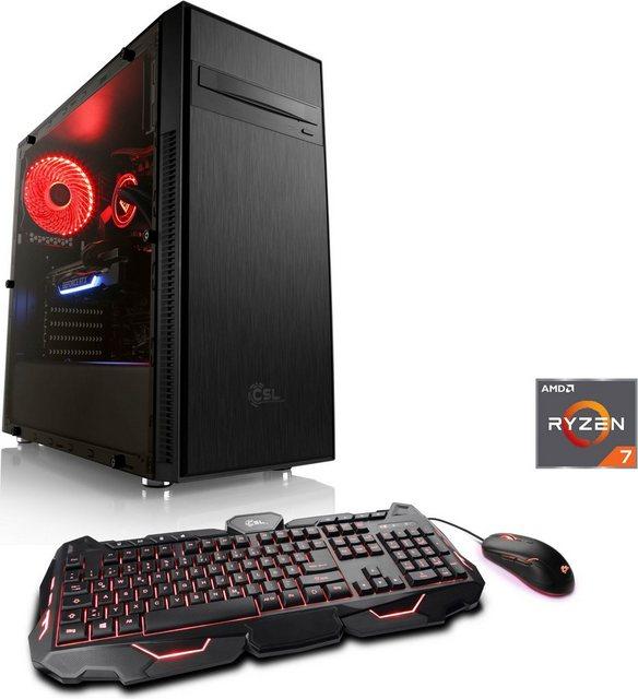 CSL HydroX L8110 Wasserkühlung Gaming-PC AMD Ryzen 7 3700X, Radeon RX 6700 XT, 16 GB RAM, 1000 GB SSD, Wasserkühlung