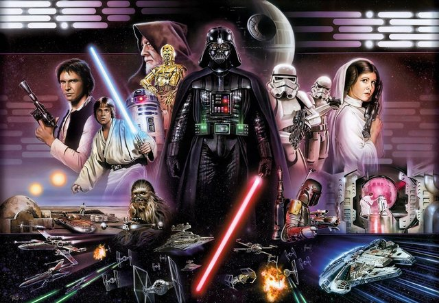 Komar Fototapete Disney Star Wars Darth Vader Collage 8-teilig