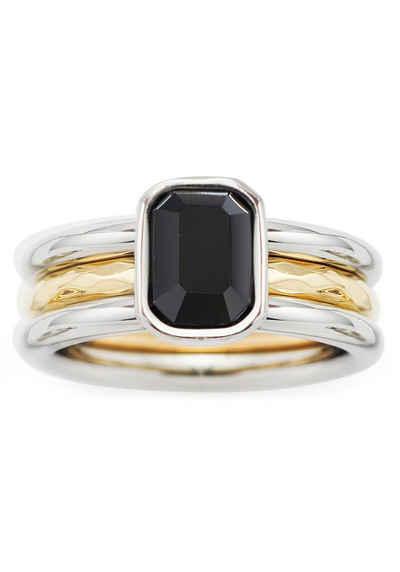LEONARDO Fingerring »018973, 018974, 018975, Set/2 Ring Savona« (Set, 2-tlg), mit Glasstein