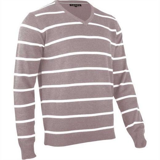 hemmy Fashion V-Ausschnitt-Pullover Pulli Sweater V-Ausschnitt, versch. Ausführungen und Farben erhältlich