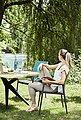 Musterring Gartentisch »Freilicht - Tisch: Holland«, Teak massiv gebürstet mit Baumkante, Aluminium Gestell, Länge 220 cm, Bild 9