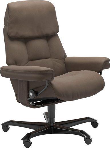 Stressless® Relaxsessel »Ruby«, mit Home Office Base, Größe M, Gestell Eiche, Wenge, Braun & Schwarz