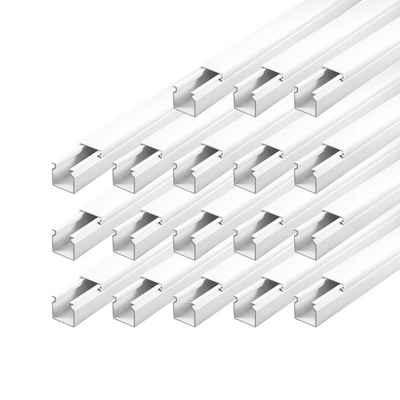 ARLI Kabelkanal »Schraubbar mit Bodenlochung« (18m Set, 18-St), PVC, schwer entflammbar, IP-Bewertung: IP40