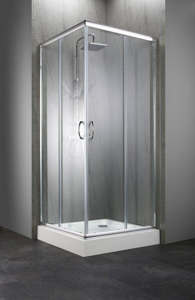 Komplett-Set: Eckdusche »Summer«, Eckeinstieg, inkl. Duschwanne, BxT: 90 x  90 cm online kaufen   OTTO