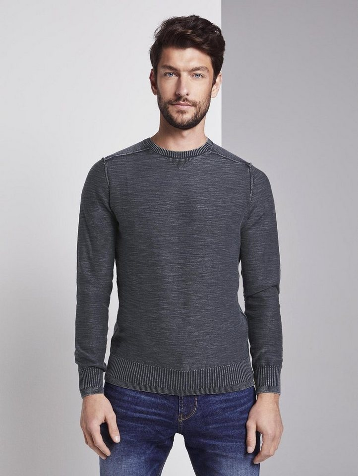 tom tailor -  Strickpullover »Sweater im washed-look«